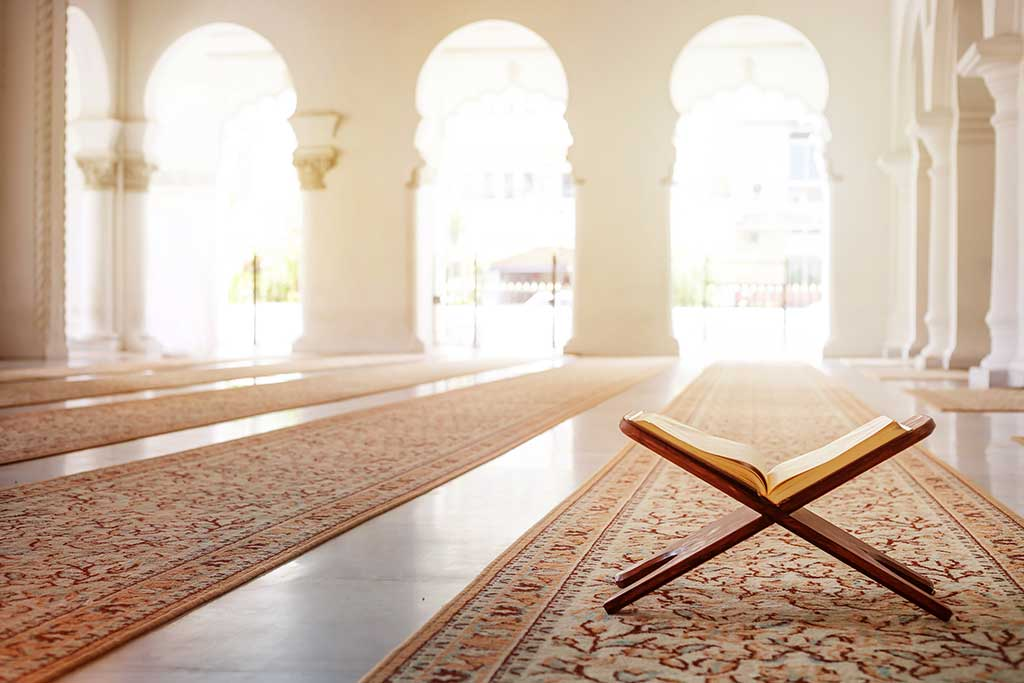 Quran - holy book of Islam in mosque